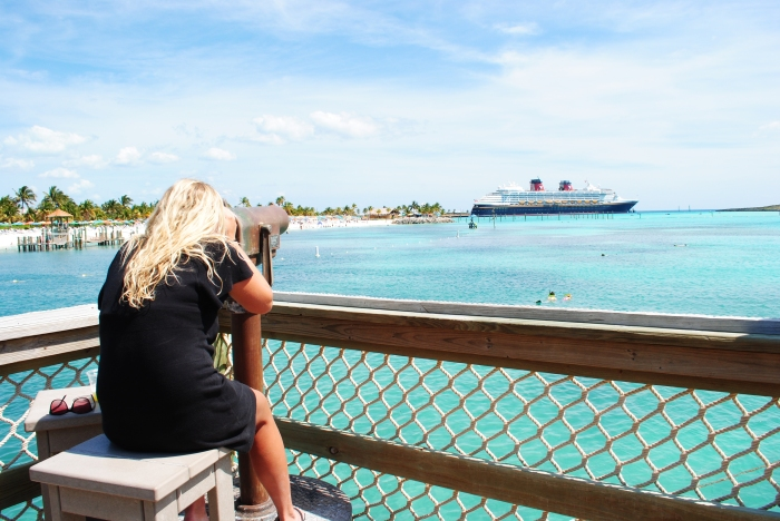 Looking across Castaway Cay from the 'Heads up Bar at Pelican Point'.